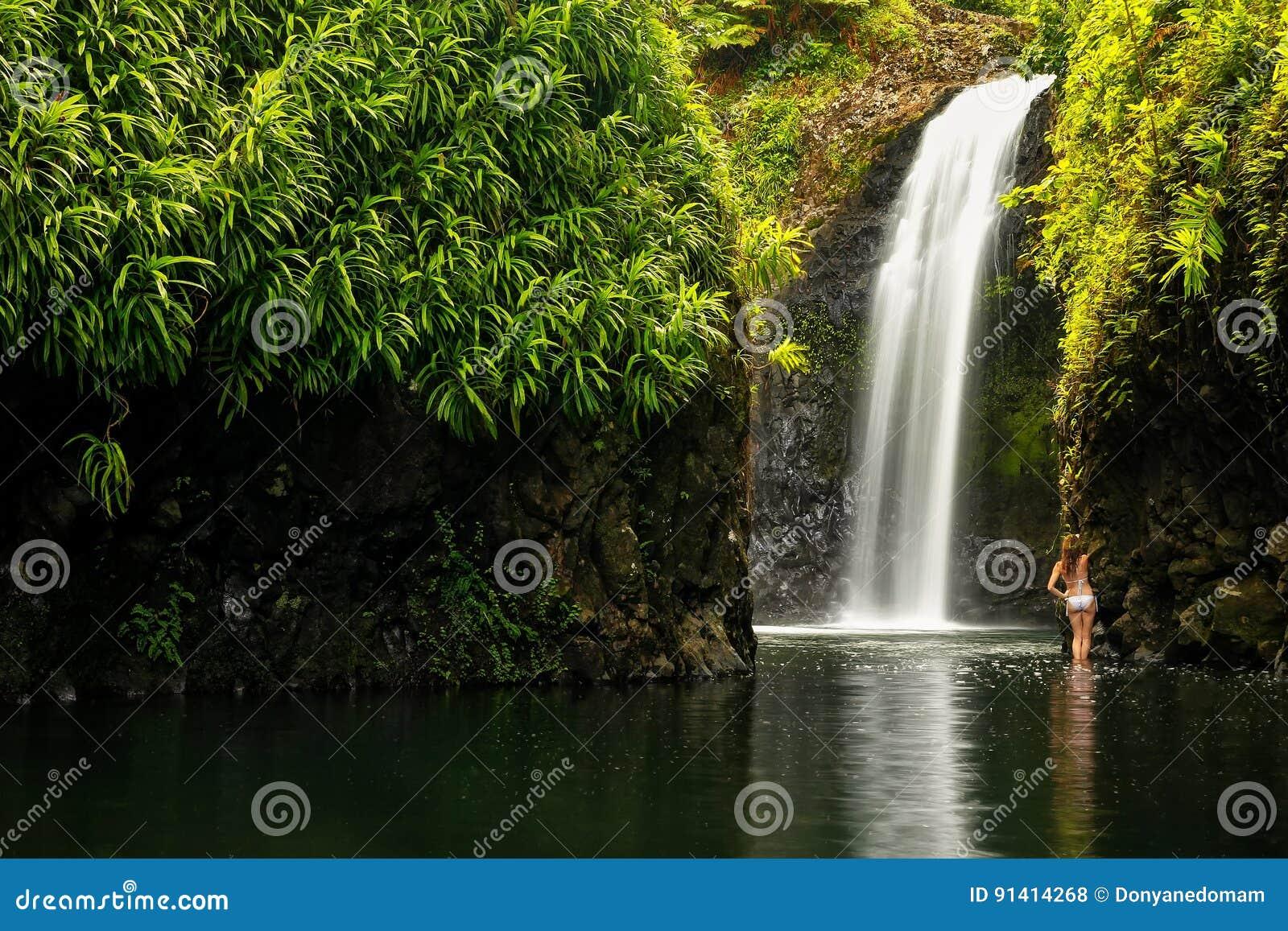 Wainibau Waterfall At The End Of Lavena Coastal Walk On