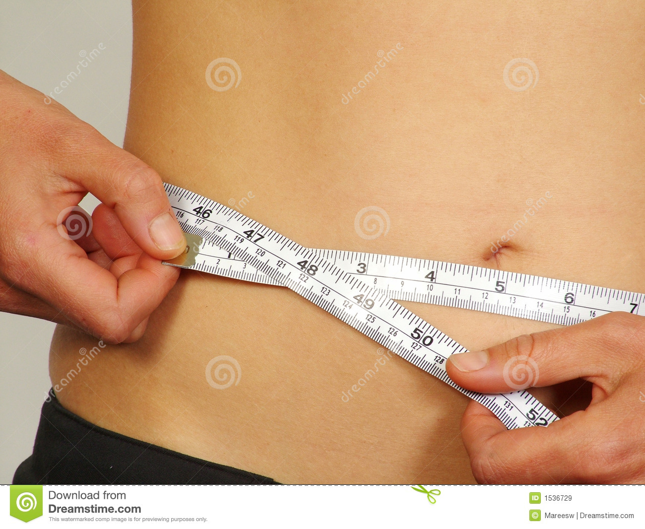 waist measurement royalty free stock images