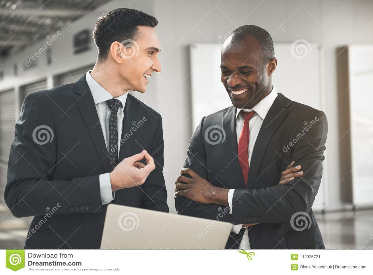 Two Men Making Agreement About Rent Price Stock Image Image Of