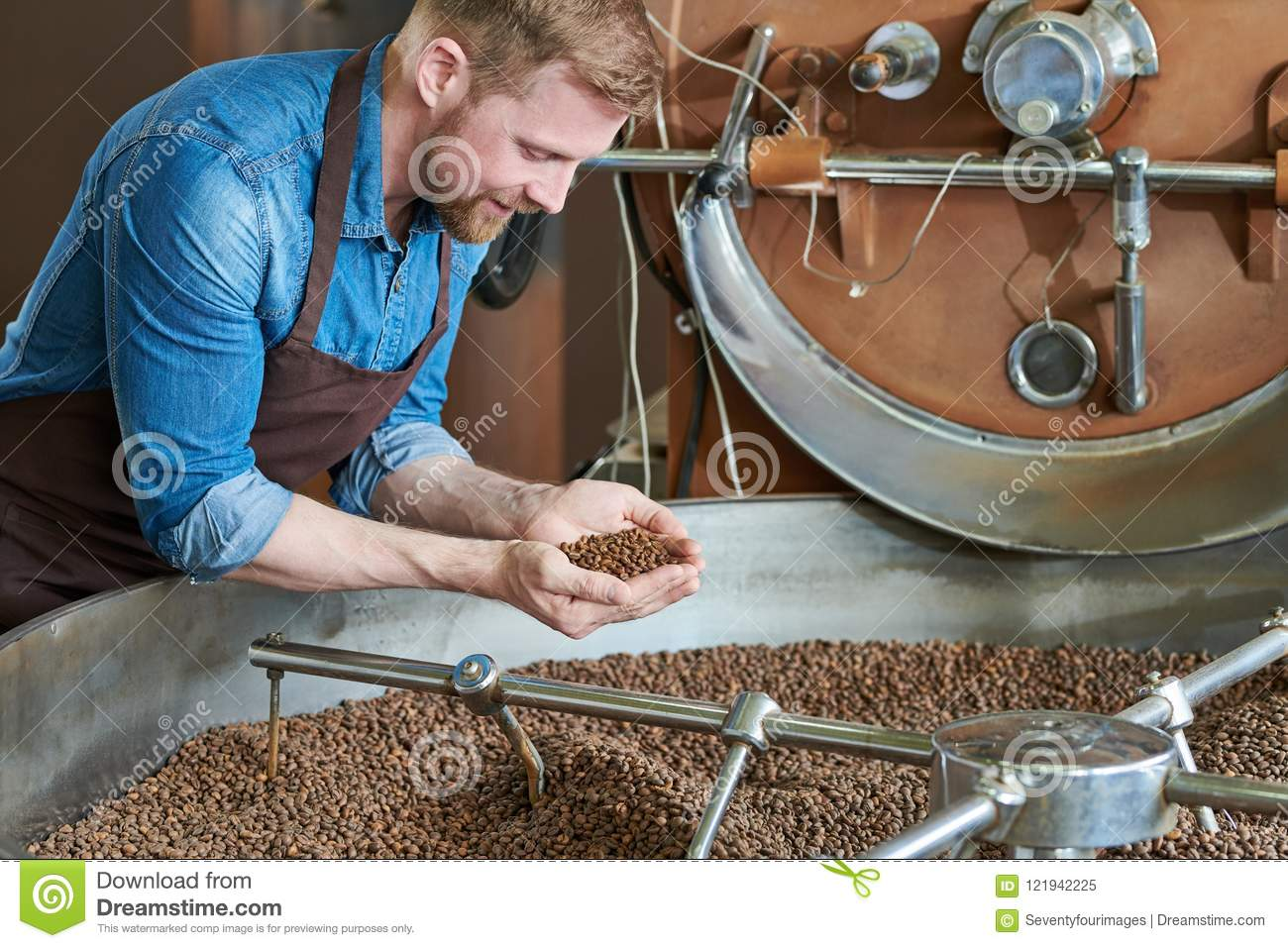 Coffee Roaster By Drum Machine Stock Image - Image of