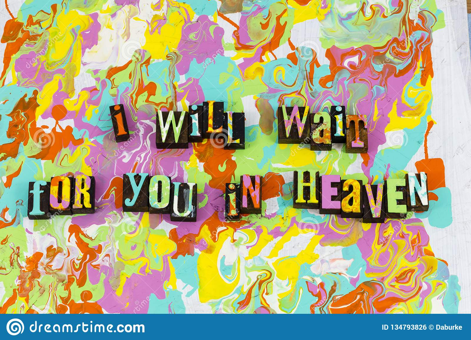 Wait Heaven Love Relationship Together Stock Photo - Image