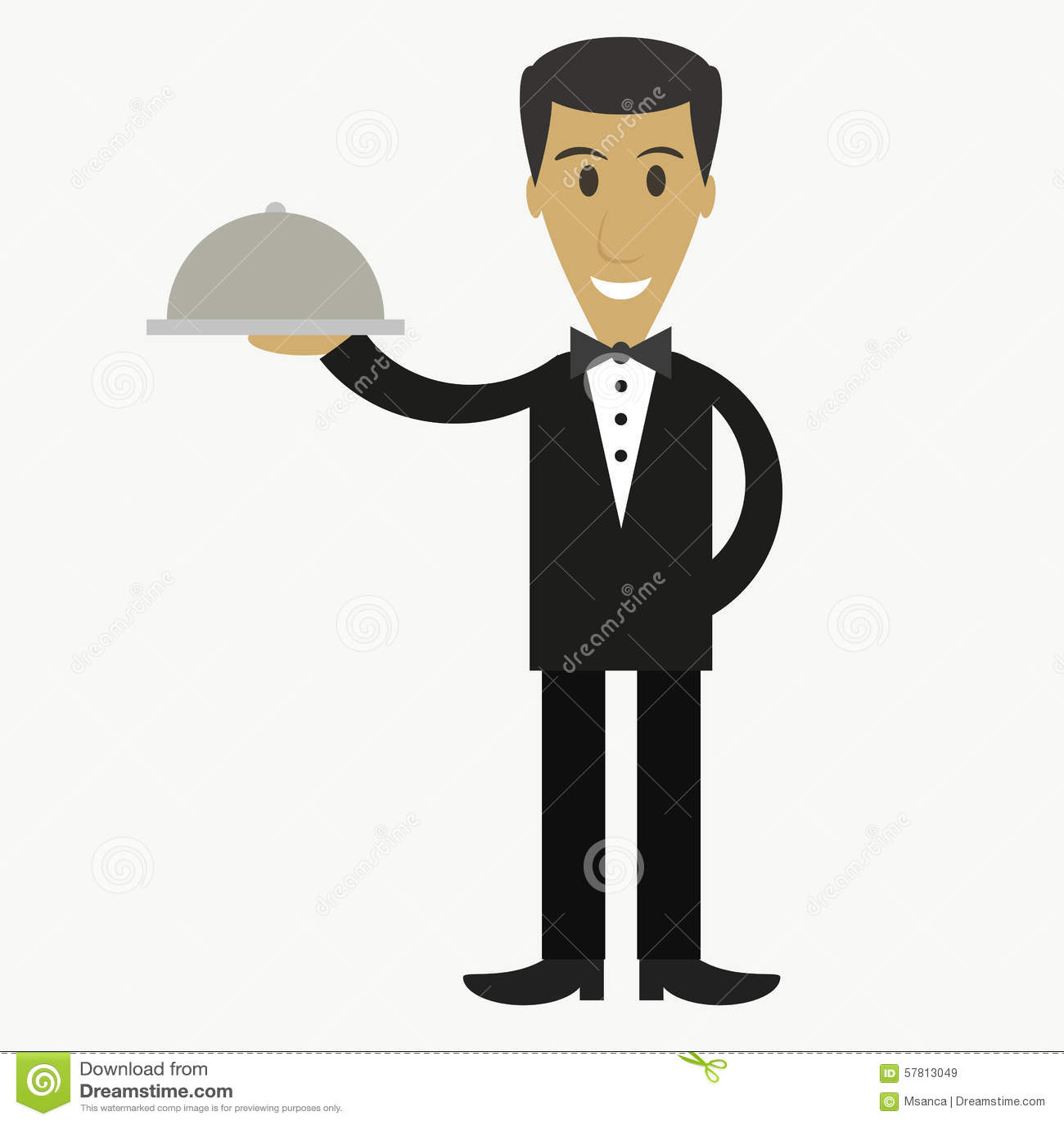 Waiter Cartoon Stock Photos Images Royalty Free Waiter