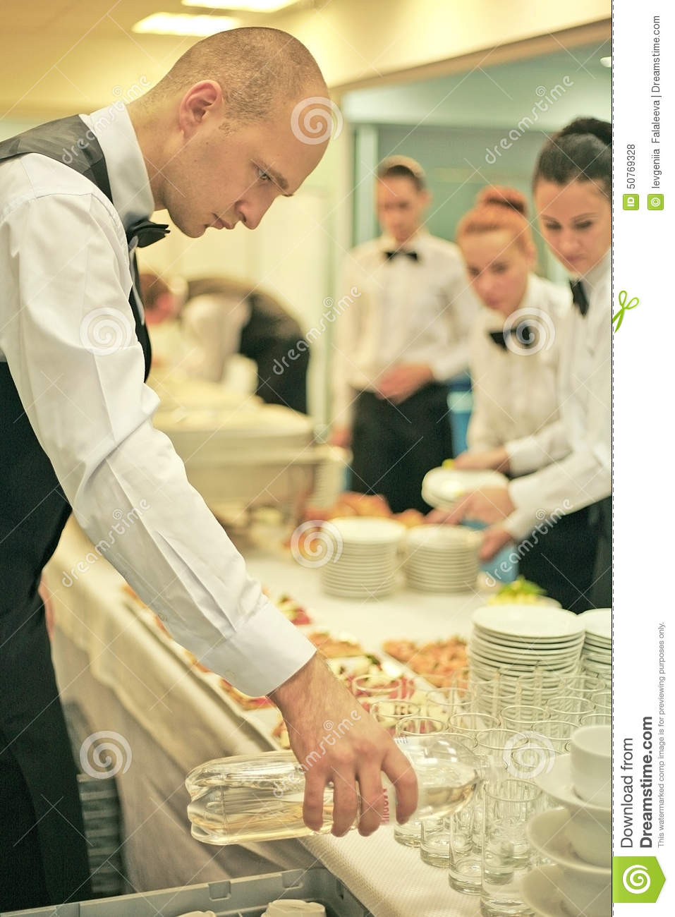 a waiter stock photo