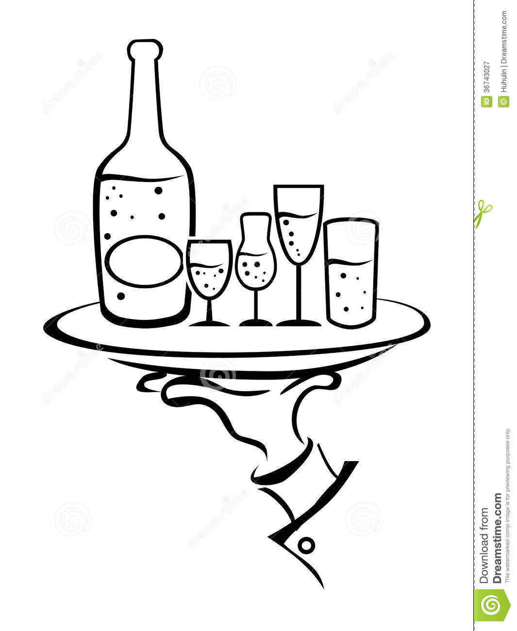 Cocktail glass outline