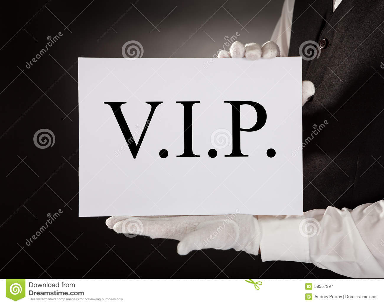 Waiter Holding Plate With Welcome Text On Paper Royalty ...