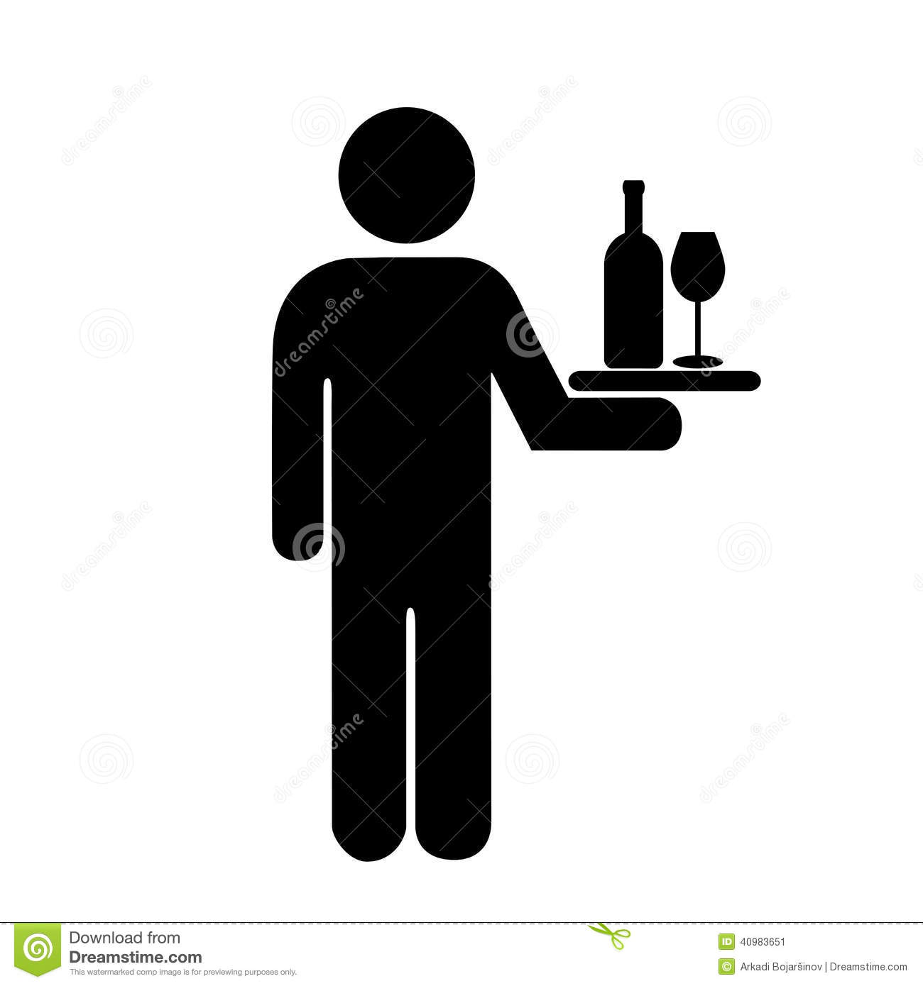 Waiter Icon Stock Vector - Image: 40983651