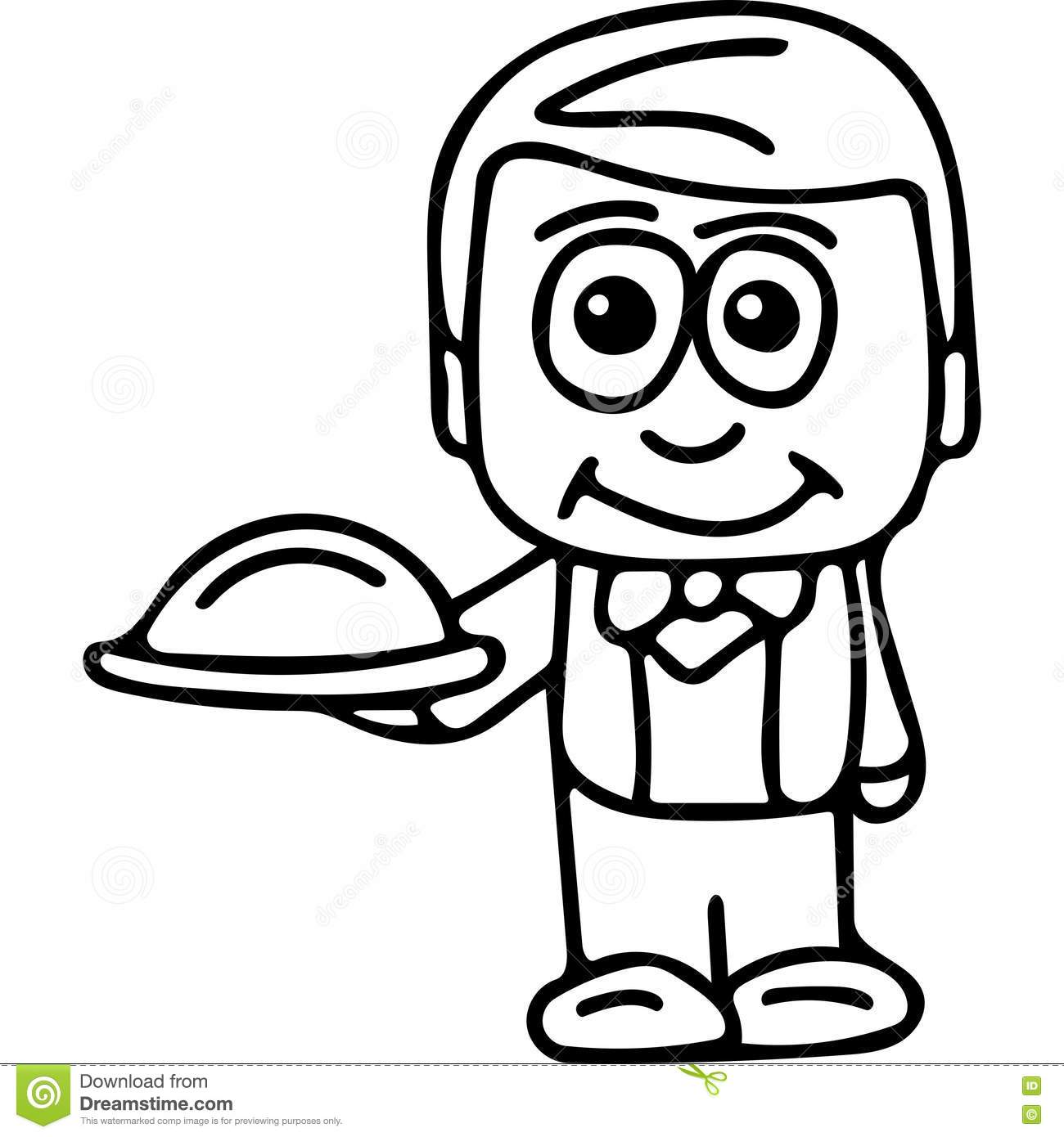 Waiter coloring pages