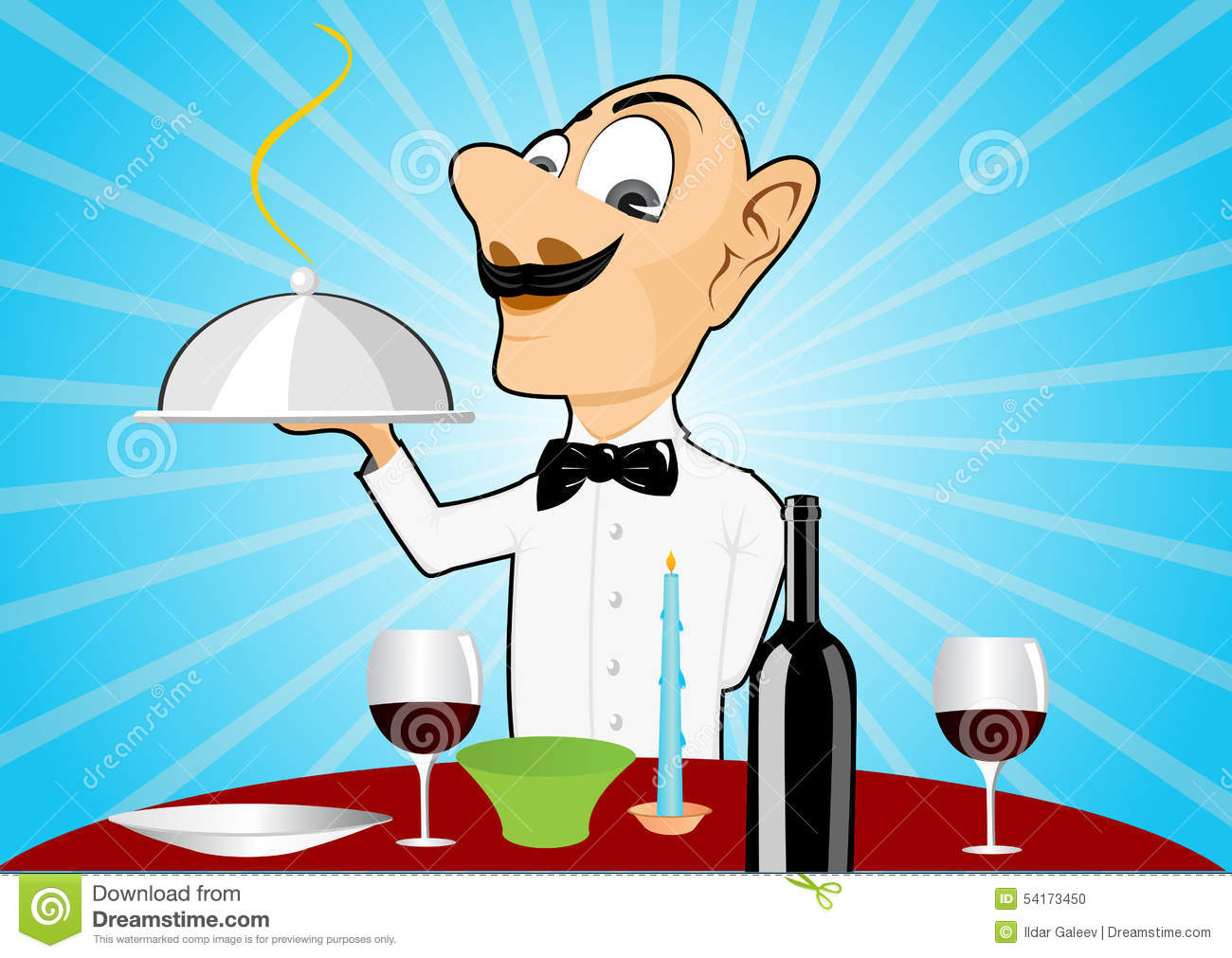 Restaurant Setting Table Waiter Stock Illustrations – 153 Restaurant ...