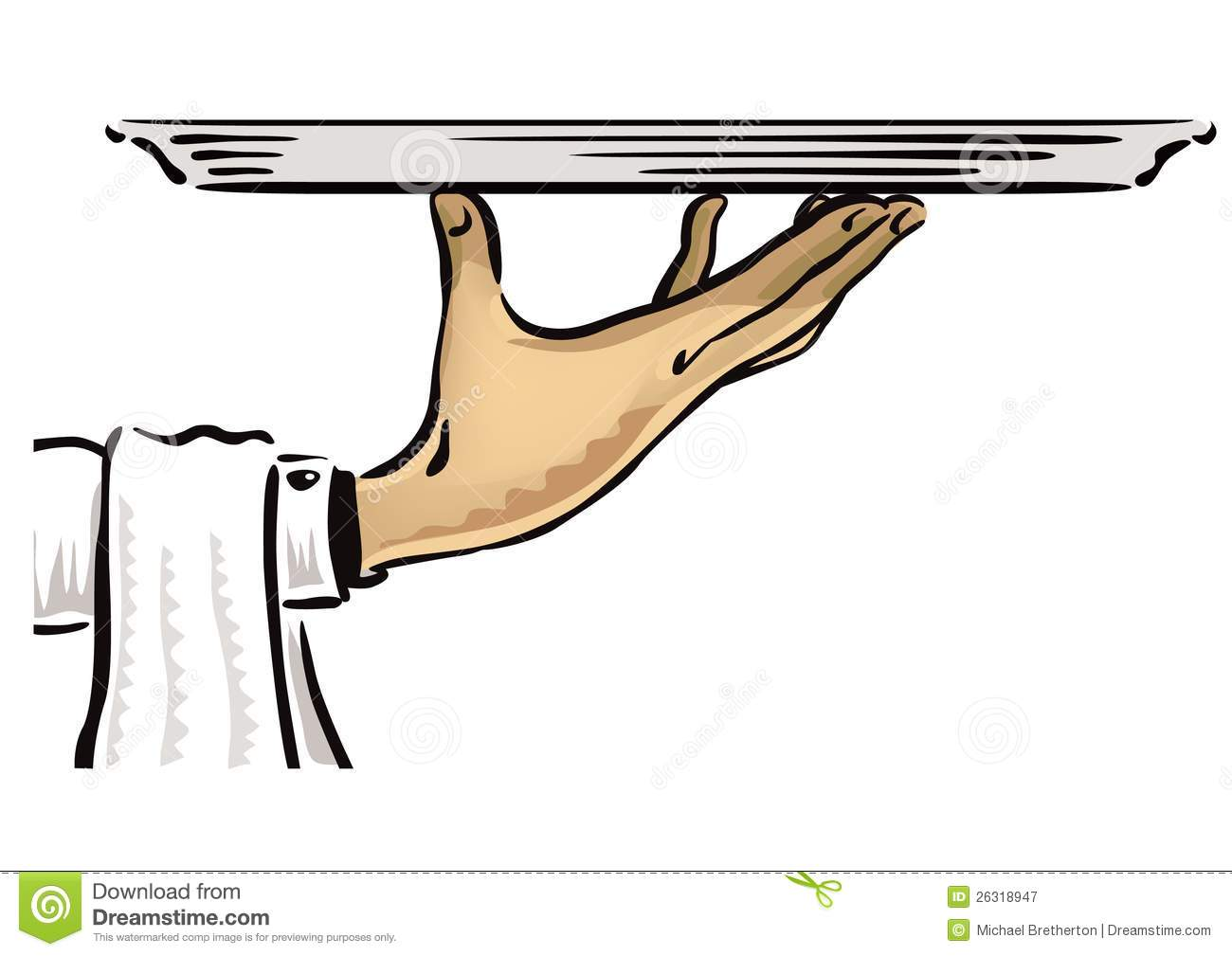 Waiter hand holding an empty platter – ready to insert your content ...