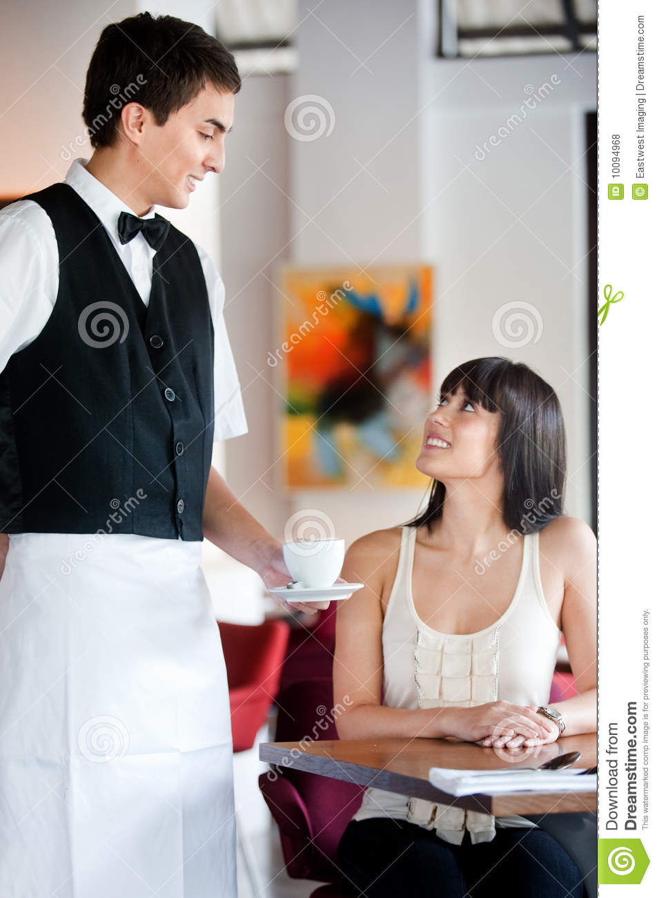 waiter serving coffee royalty free stock photos  image  - attractive coffee
