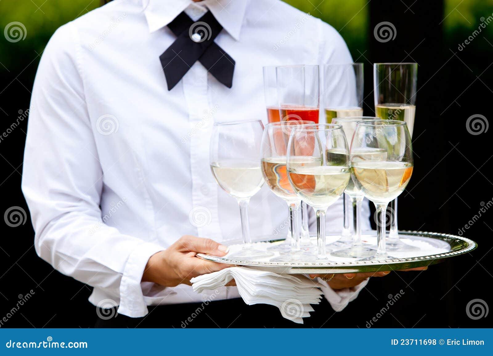 Waiter serving drinks - wedding series