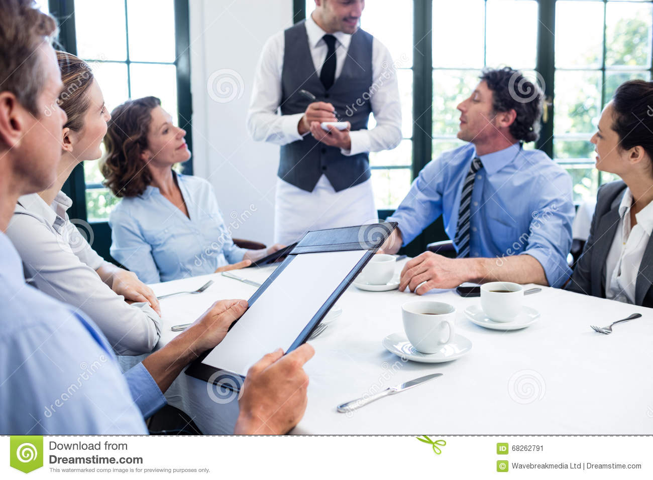 waiter taking an order stock image image of order meeting 68262791