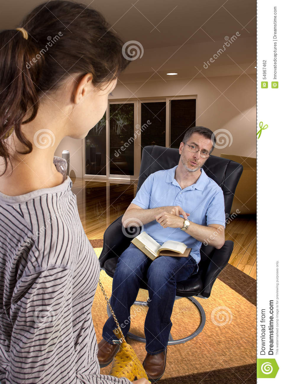 Waiting For Daughter Past Curfew Stock Photo Image Of