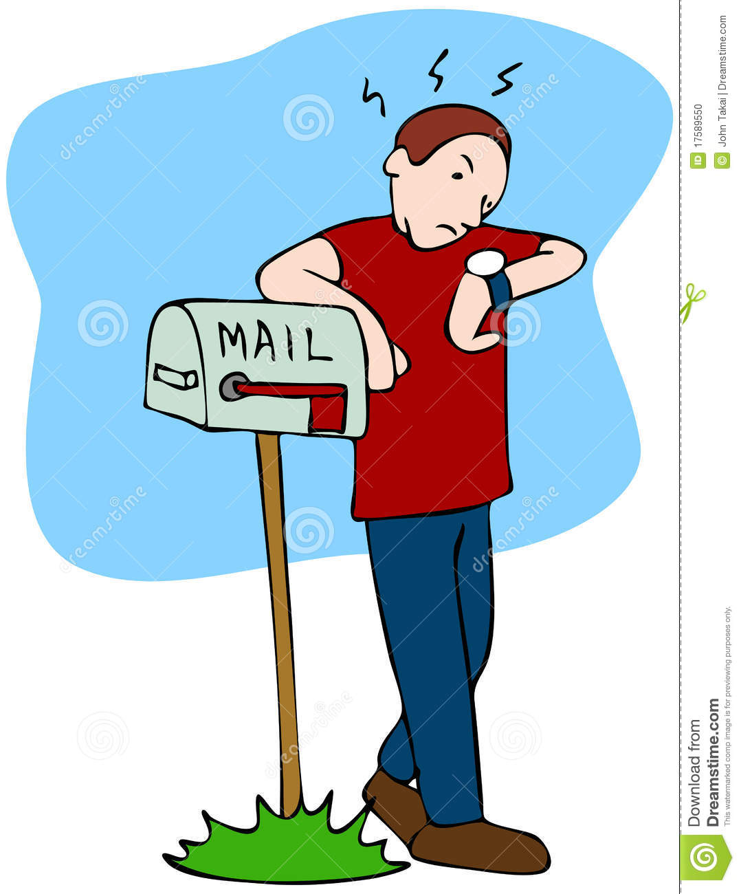waiting for mailman stock photo image 17589550 gold coin clip art black and white gold coins clipart