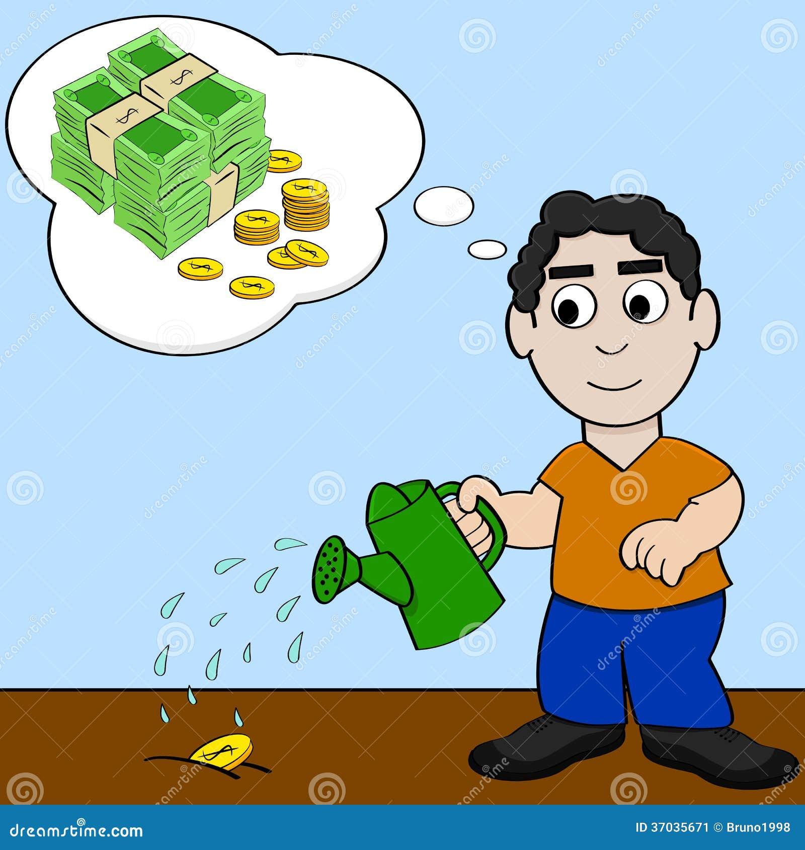 Homem de negócios ganha mais dinheiro | Vetor Premium |More Money Cartoon