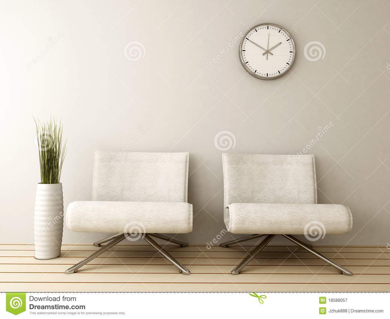 Waiting Room With Two Chairs Stock Illustration Image