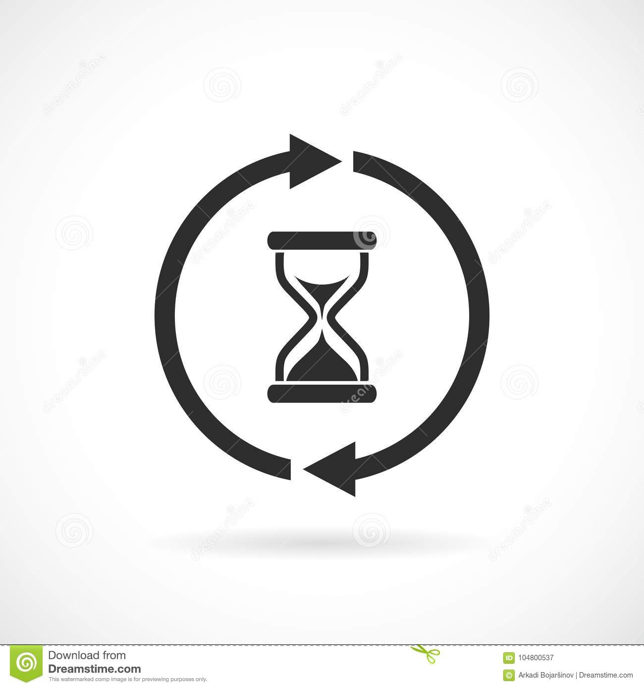 Waiting time web vector pictogram