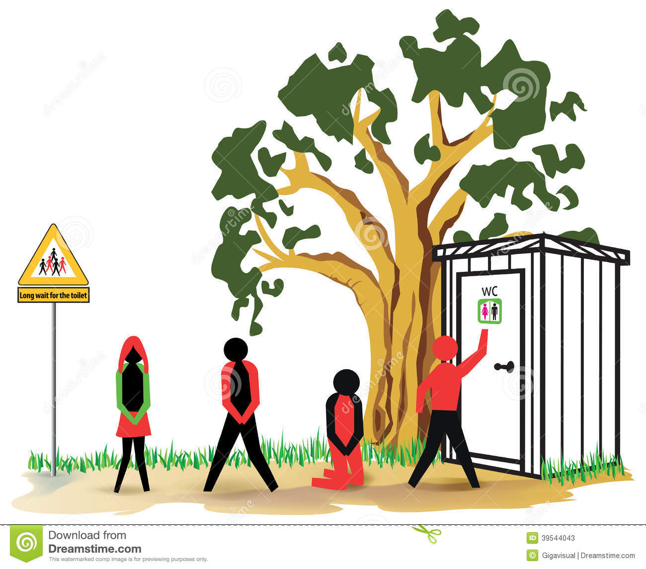 Waiting Toilet Stock Illustration - Image: 39544043