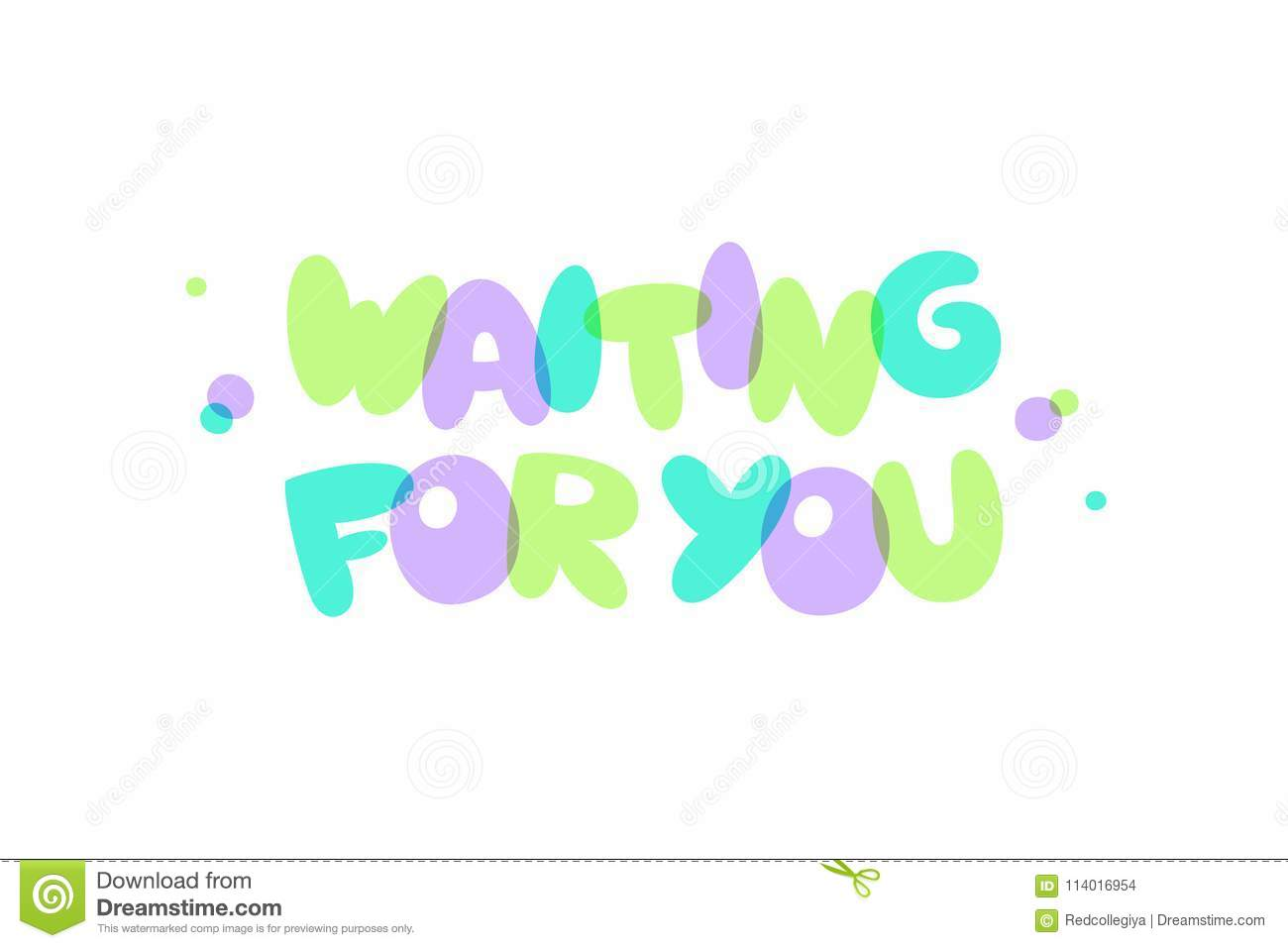 Waiting For You Lettering Stock Illustration Illustration Of Baby
