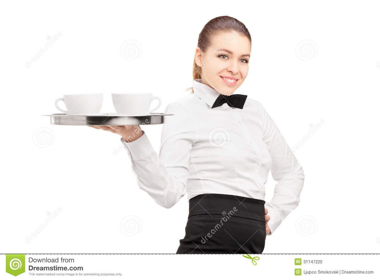 ... Holding A Tray With Coffee Cups On It Stock Photo - Image: 31147220