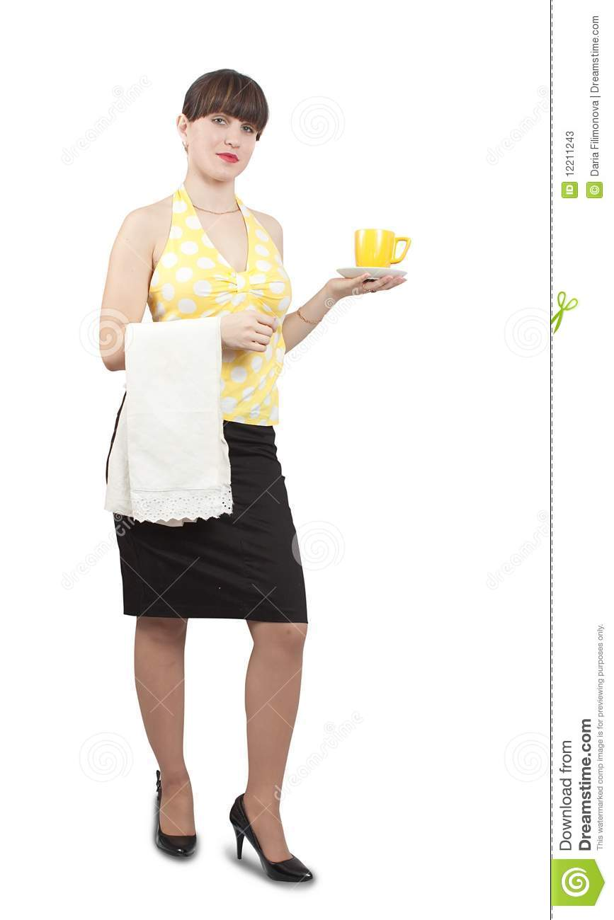 how to carry coffee waitress