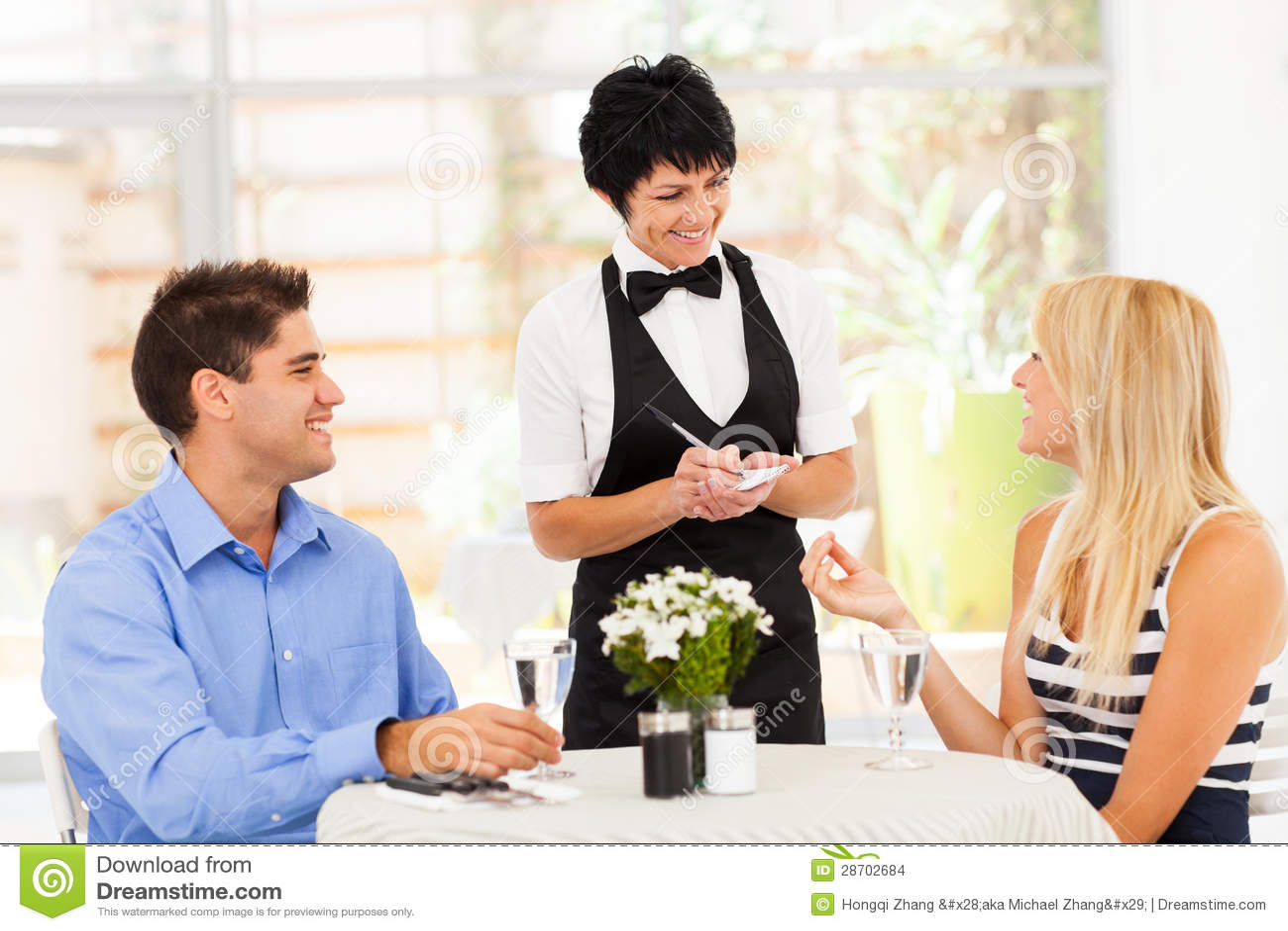 Waitress taking order  Waiter Taking Order