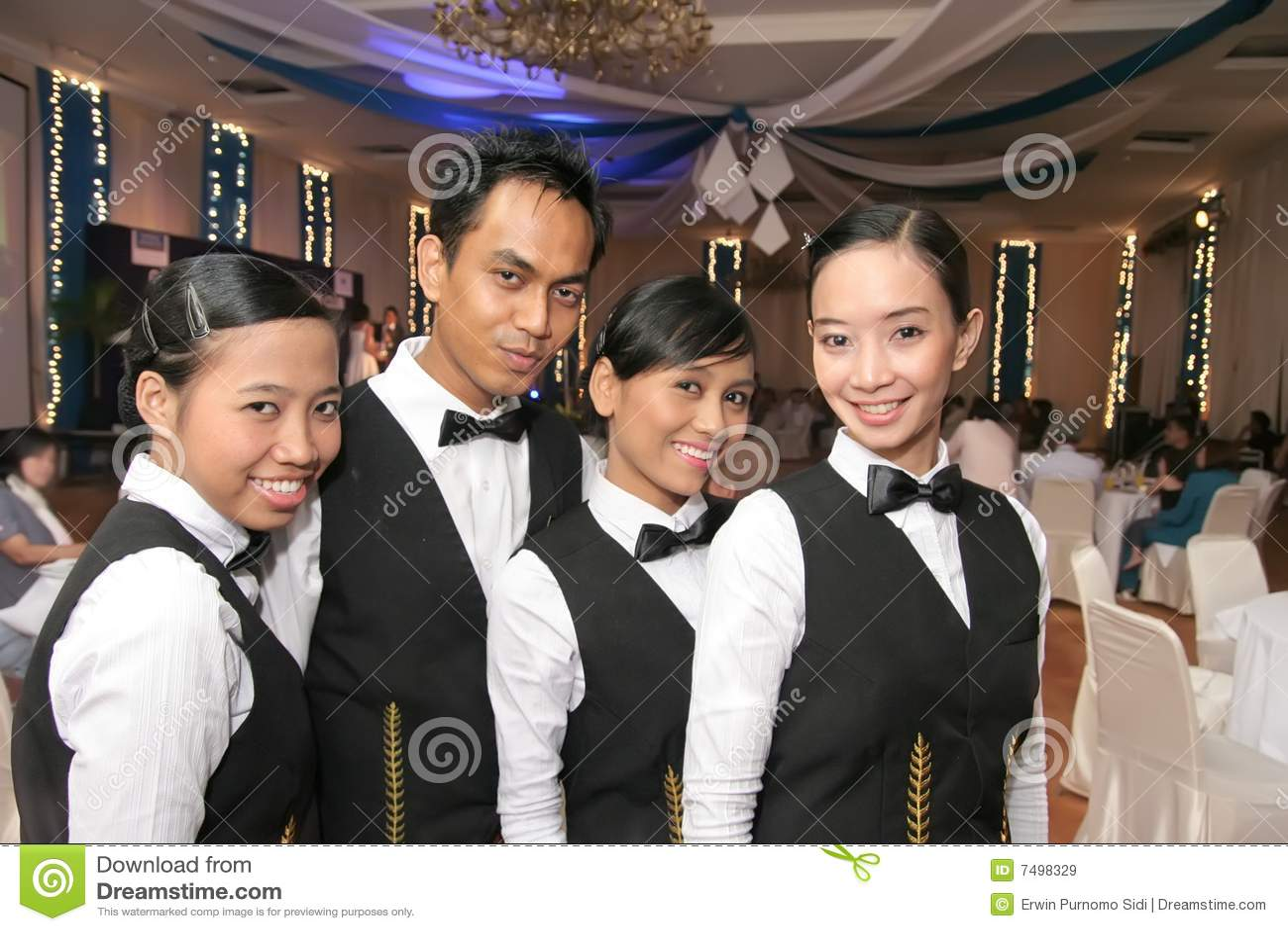 Waitress in uniform