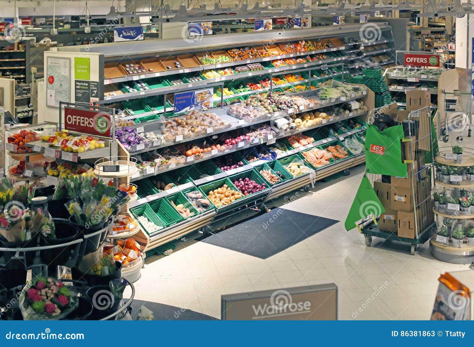Waitrose Grocery Store Editorial Stock Photo Image Of Supermarket