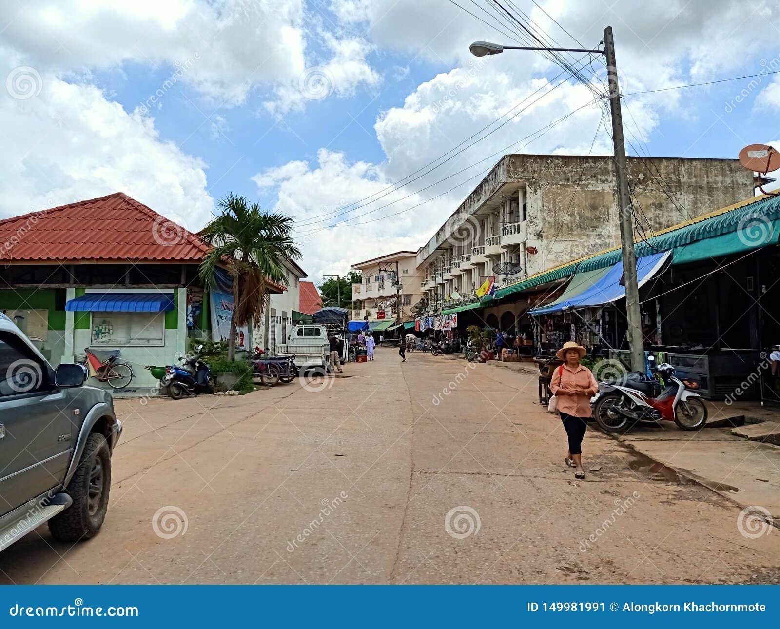 Wakacyjnego miejscowego rynku Thailand esan ludzie