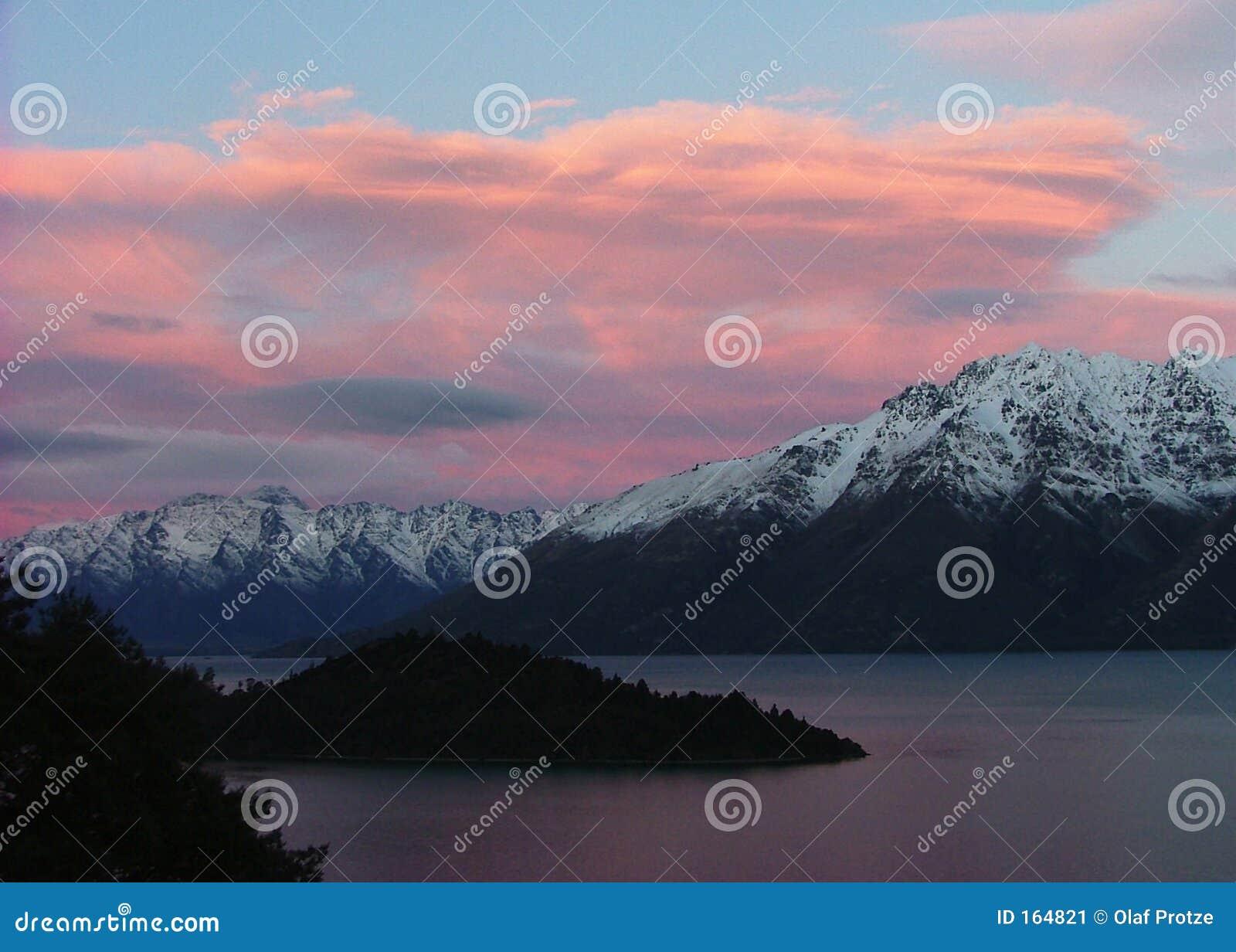 Wakatipu zealand захода солнца queenstown озера новое