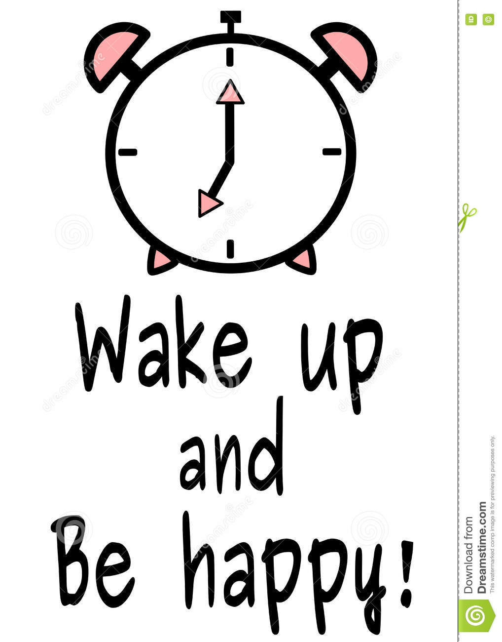 Wake Up And Be Happy Motivational Quote Black White Pink Background
