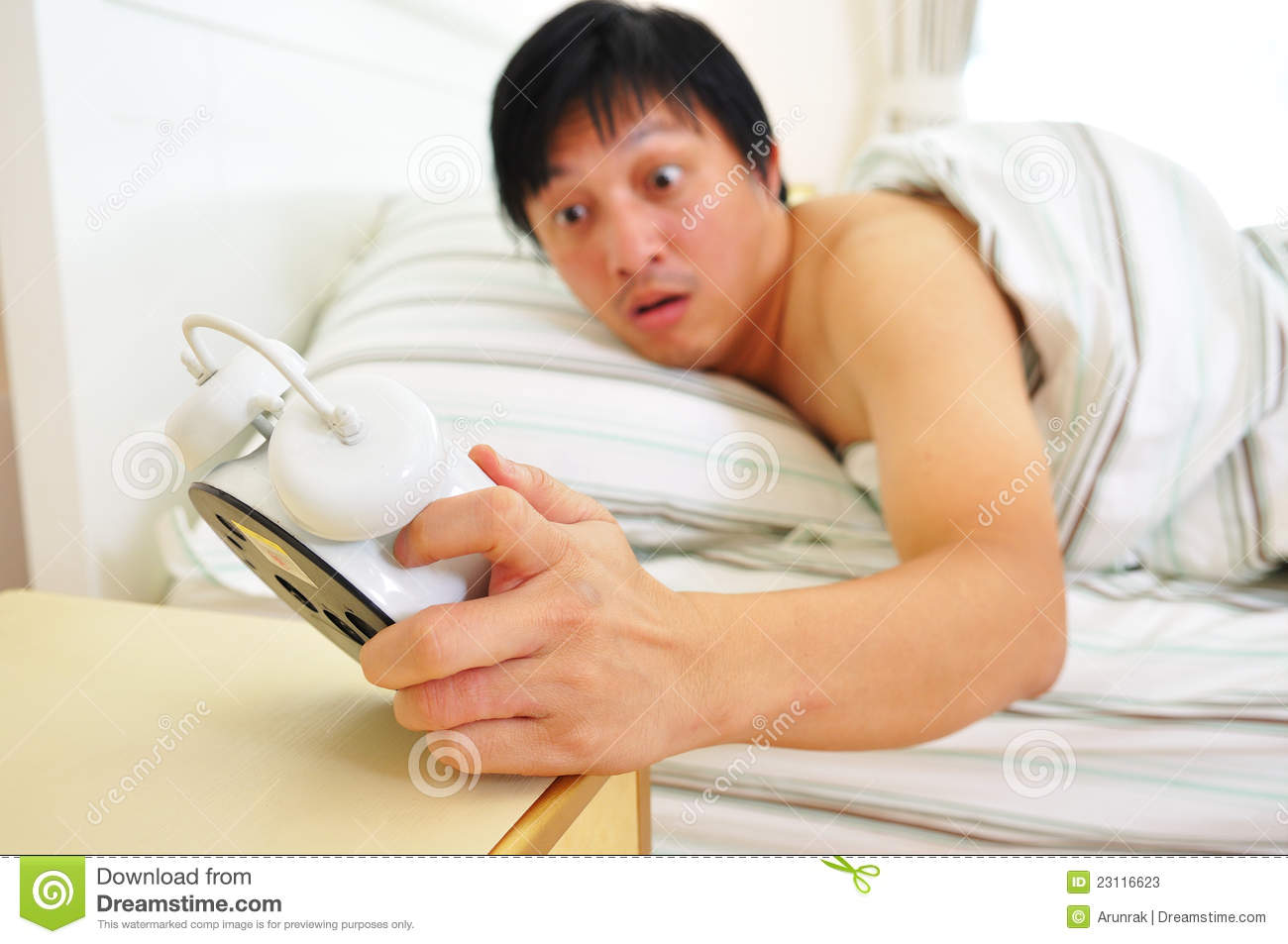 Bedroom Alarm Clock Wake Up Late Stock Photos Image 23116623