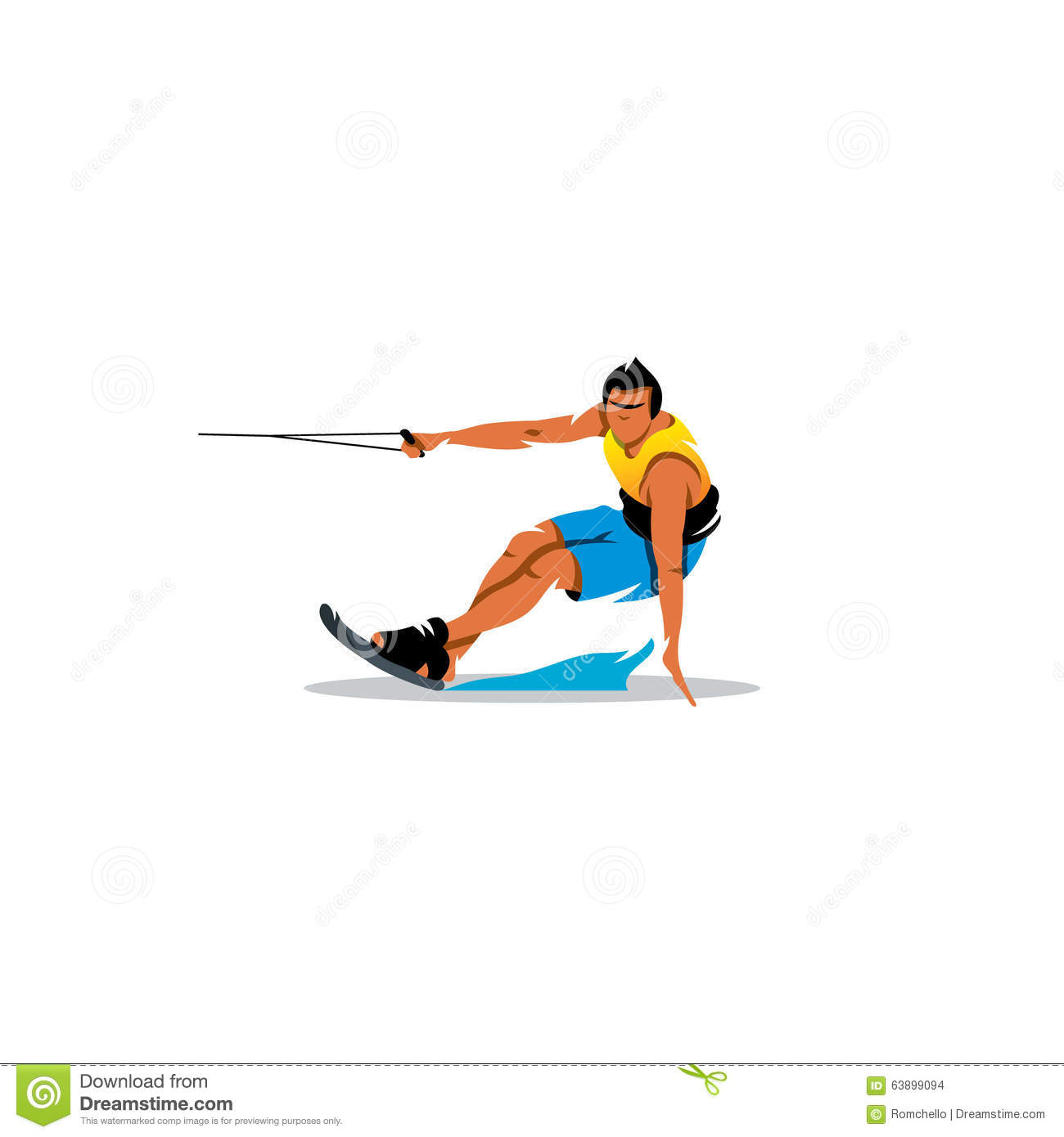 Wakeboard. Vector Illustration Stock Vector - Image: 63899094
