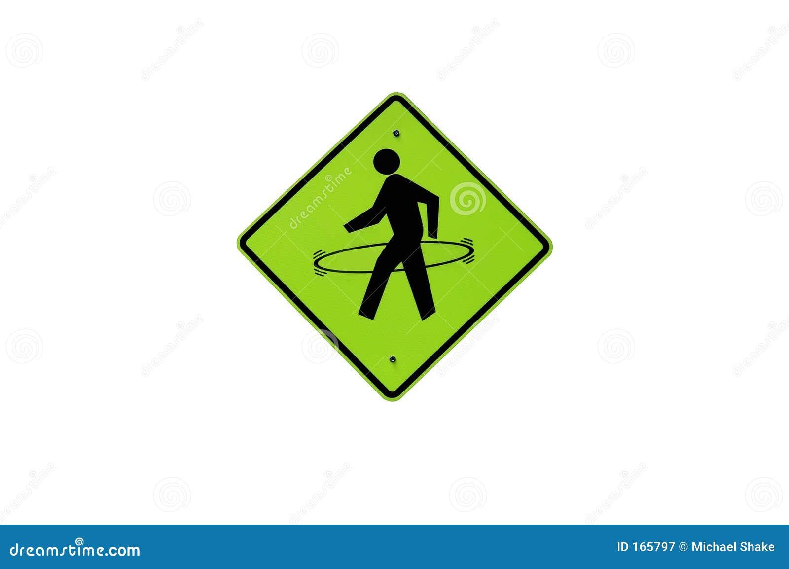 Waking Man Sign with Hula Hoop