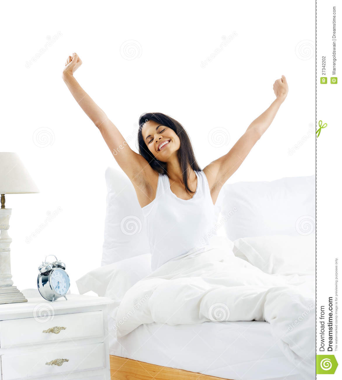 Waking Up Woman Stock Photo Image Of Lifestyle Asian