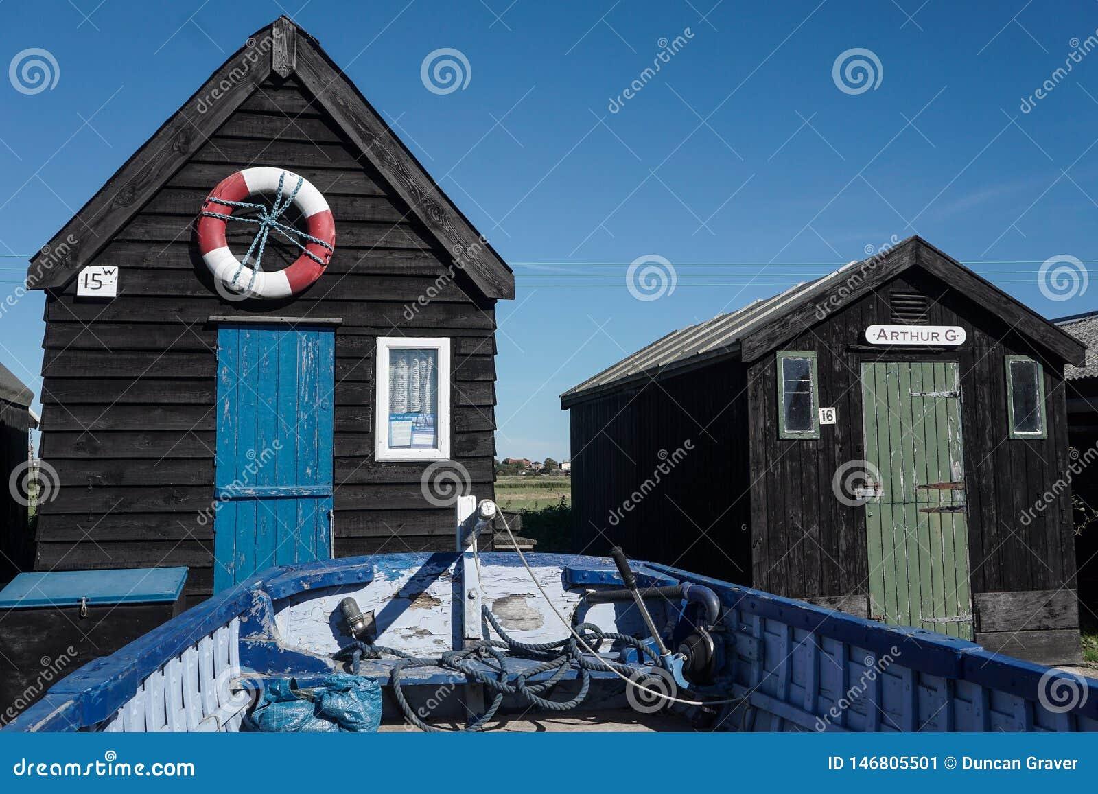 Walberswick łódkowate budy w Suffolk