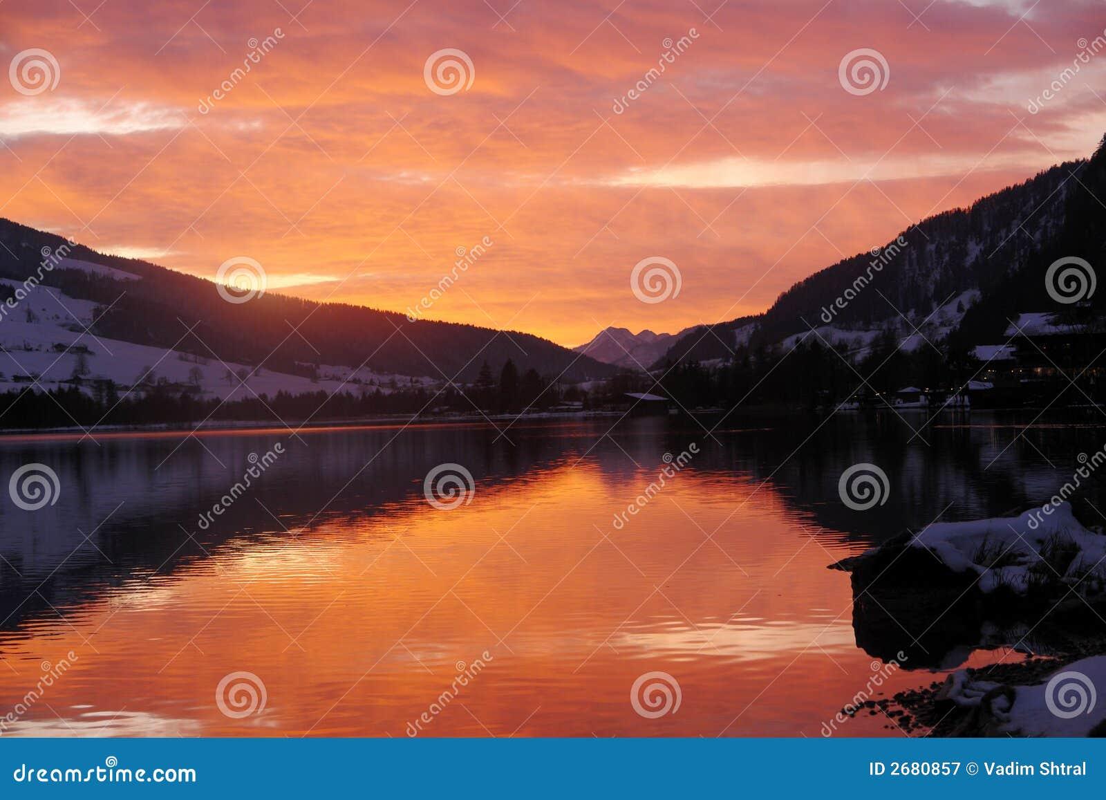 Walchensee захода солнца Австралии
