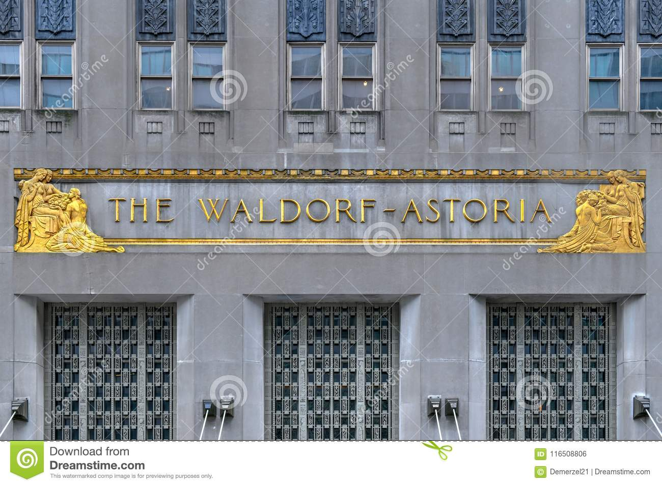 The Waldorf-Astoria Hotel - New York City Editorial Photo