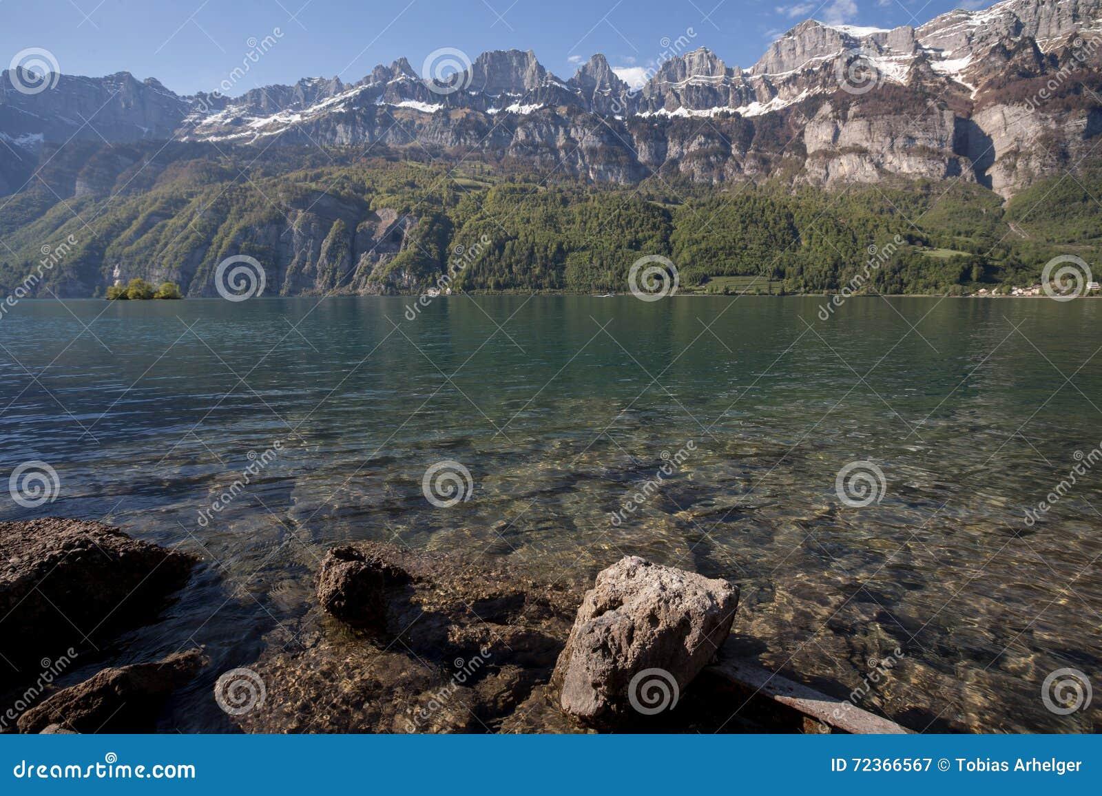 Walensee湖瑞士