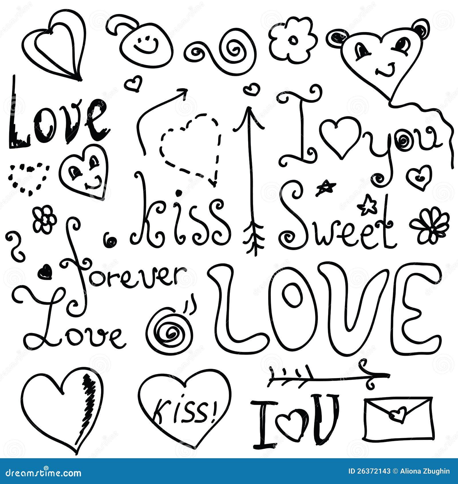 Walentynek doodles