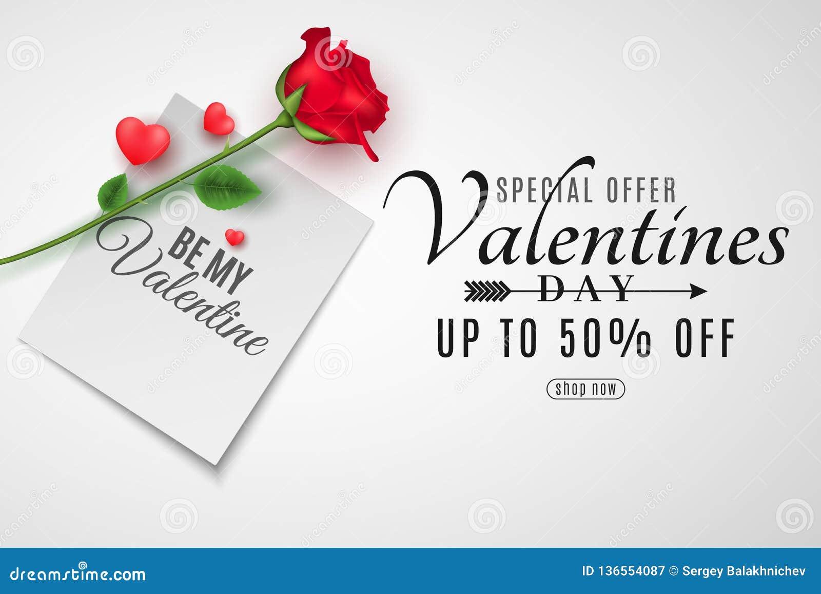 Walentynka dnia pokrywa dla sprzedaży Odgórny widok Romantyczny skład Papierowa notatka z wpisowym Był Mój walentynki i róży kwia