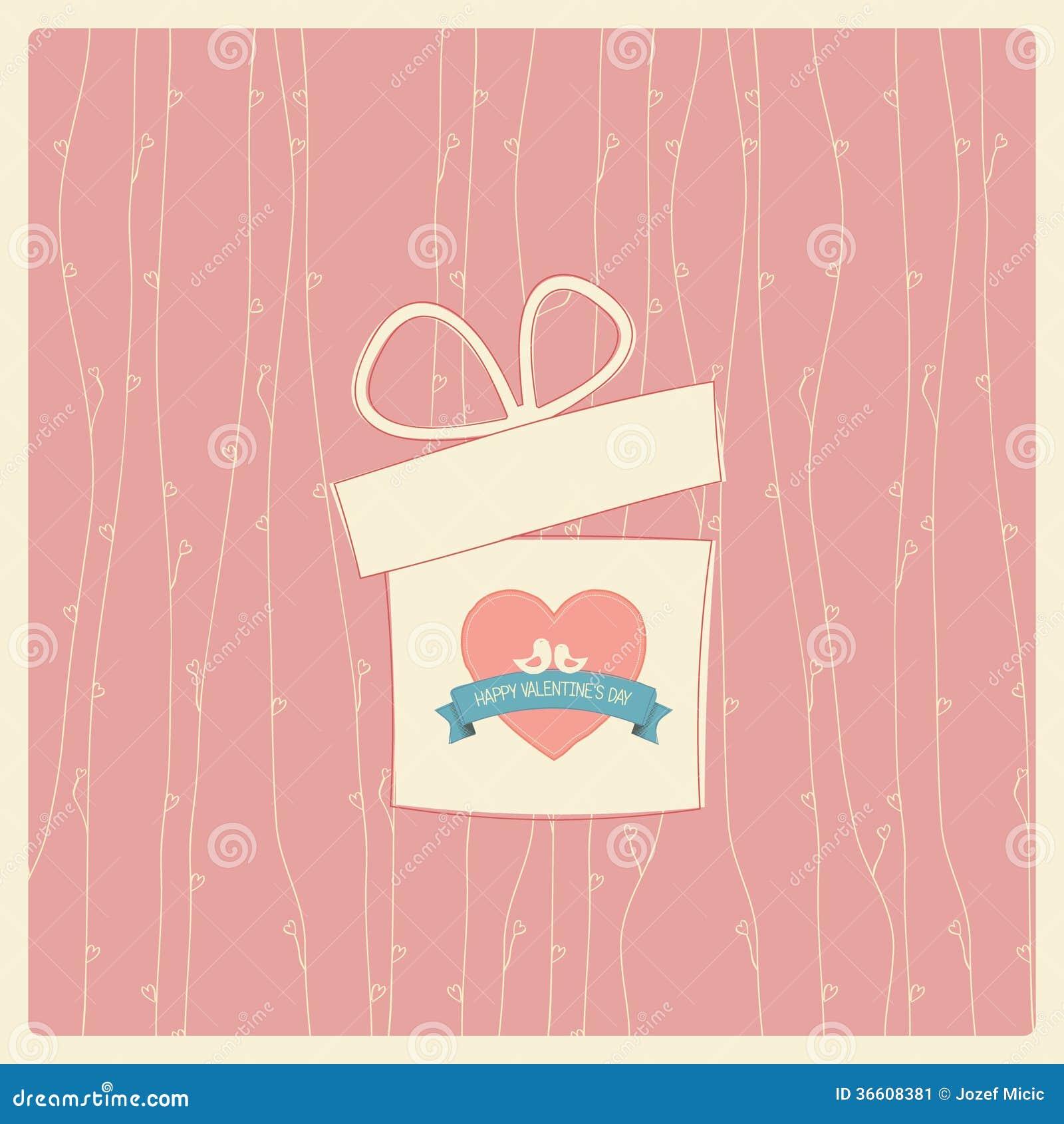Walentynka dnia rocznika karta