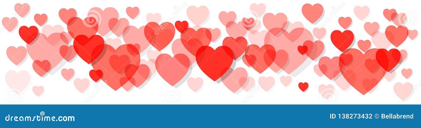 Walentynka dnia sztandaru Pantone Żywy Koralowy Colour roku 2019 serca na białym tle
