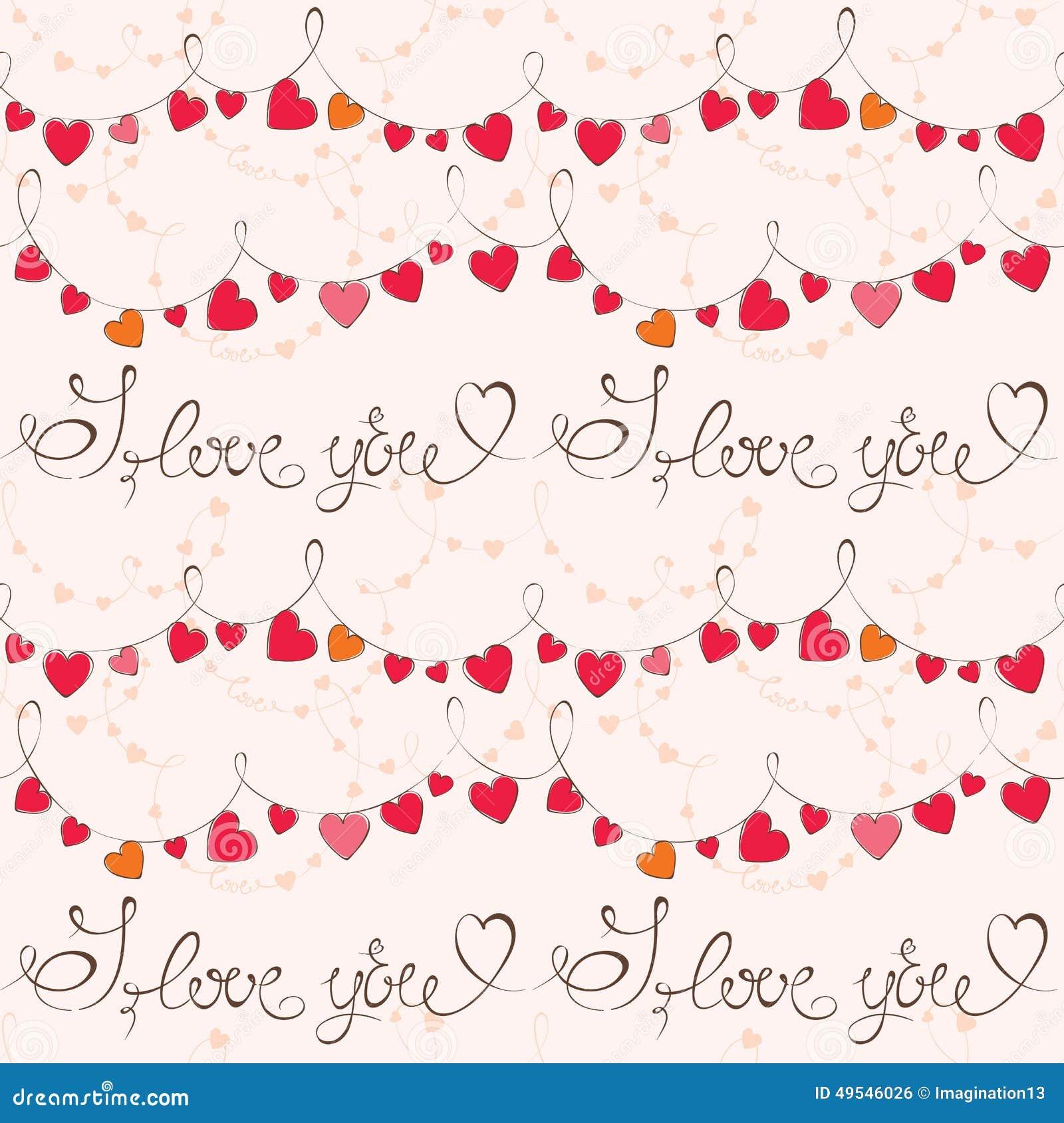 Walentynka dnia wzór z sercem