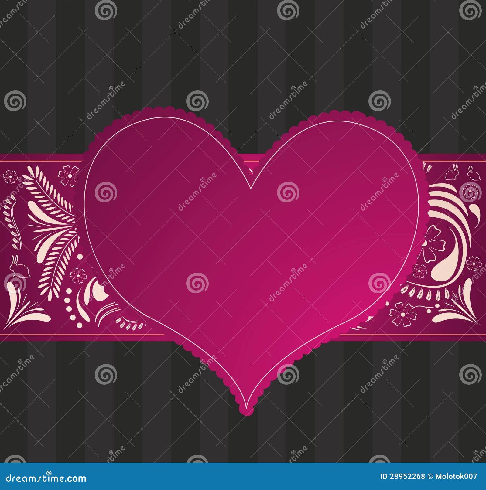 Walentynka wzór z sercem