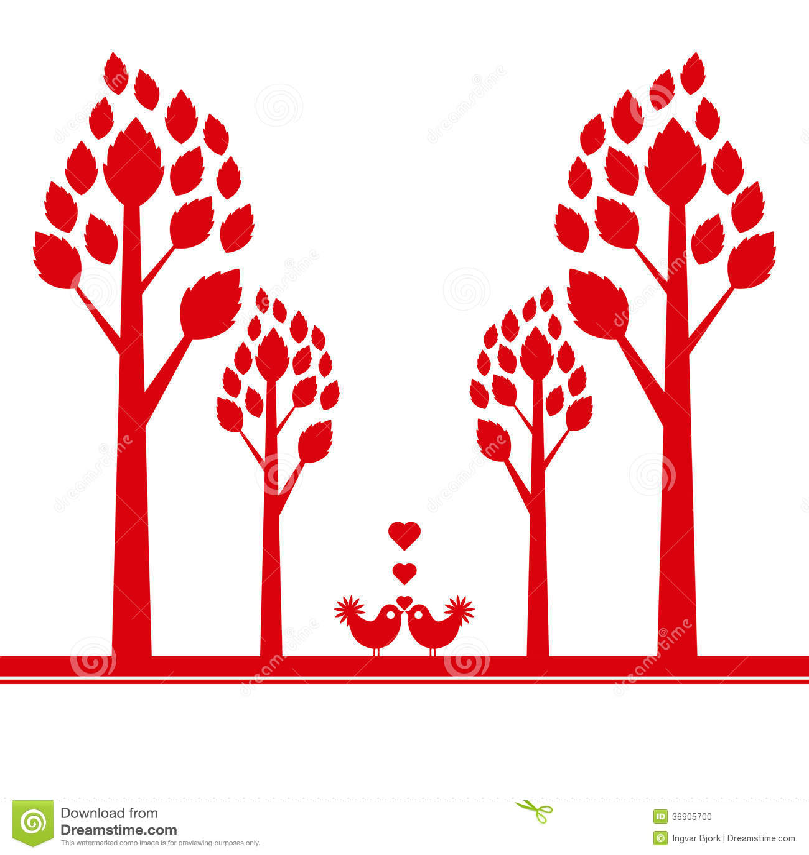 Walentynki drzewo