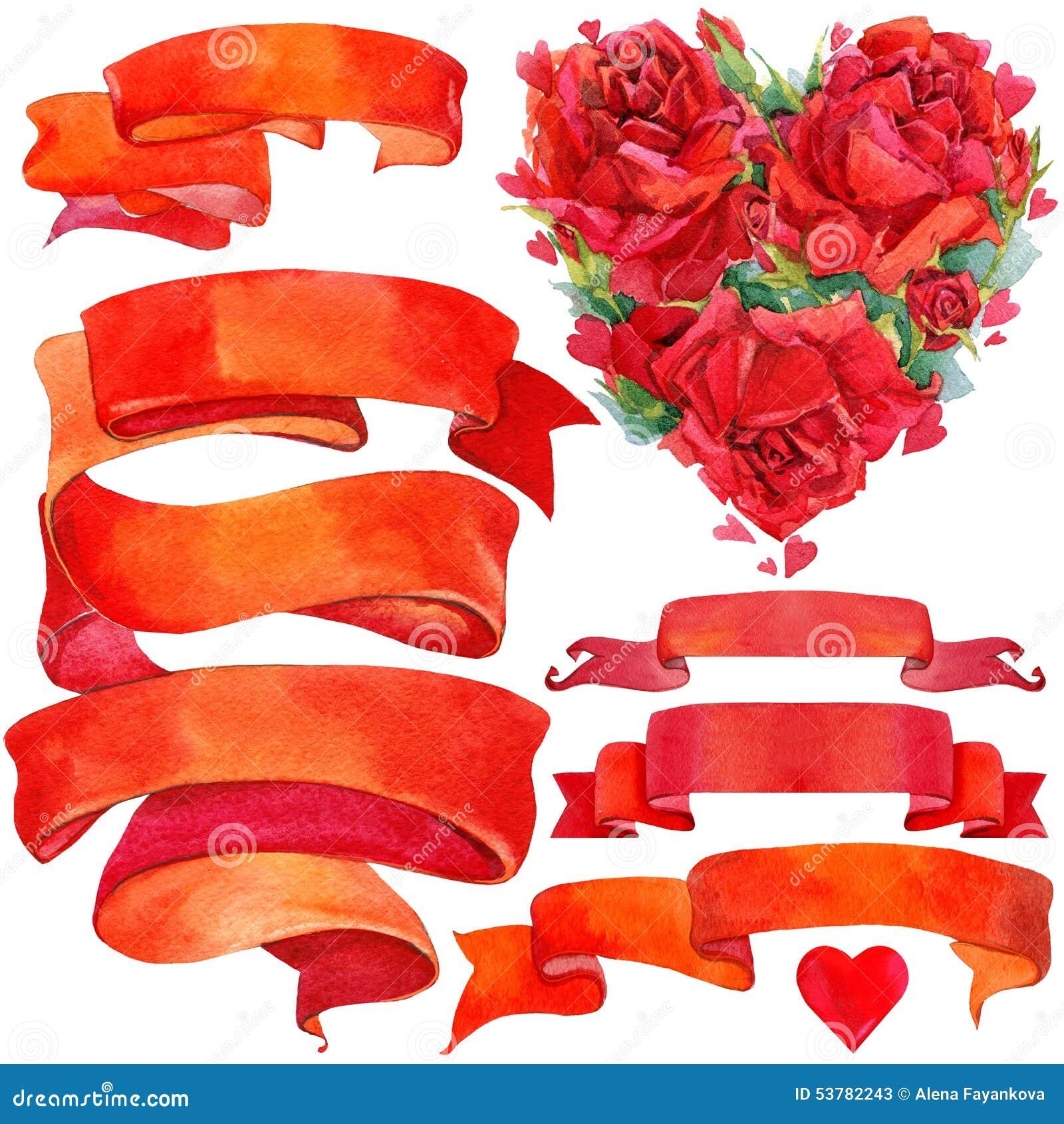 Walentynki elementy dla dekoraci i tło