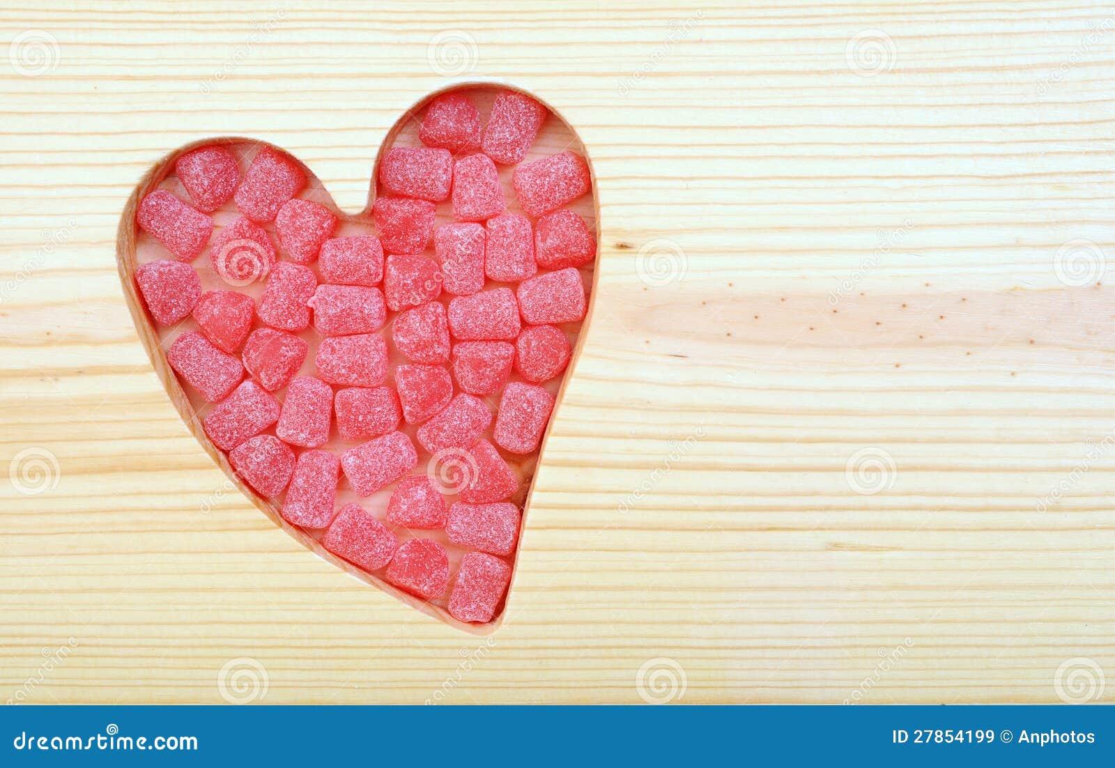 Walentynki koloru cukierek