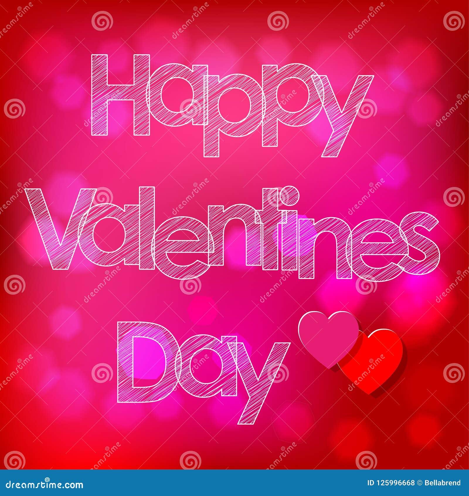 Walentynki ` s dnia skrobaniny pocztówkowi biali listy z sercami na różowym bokeh tle