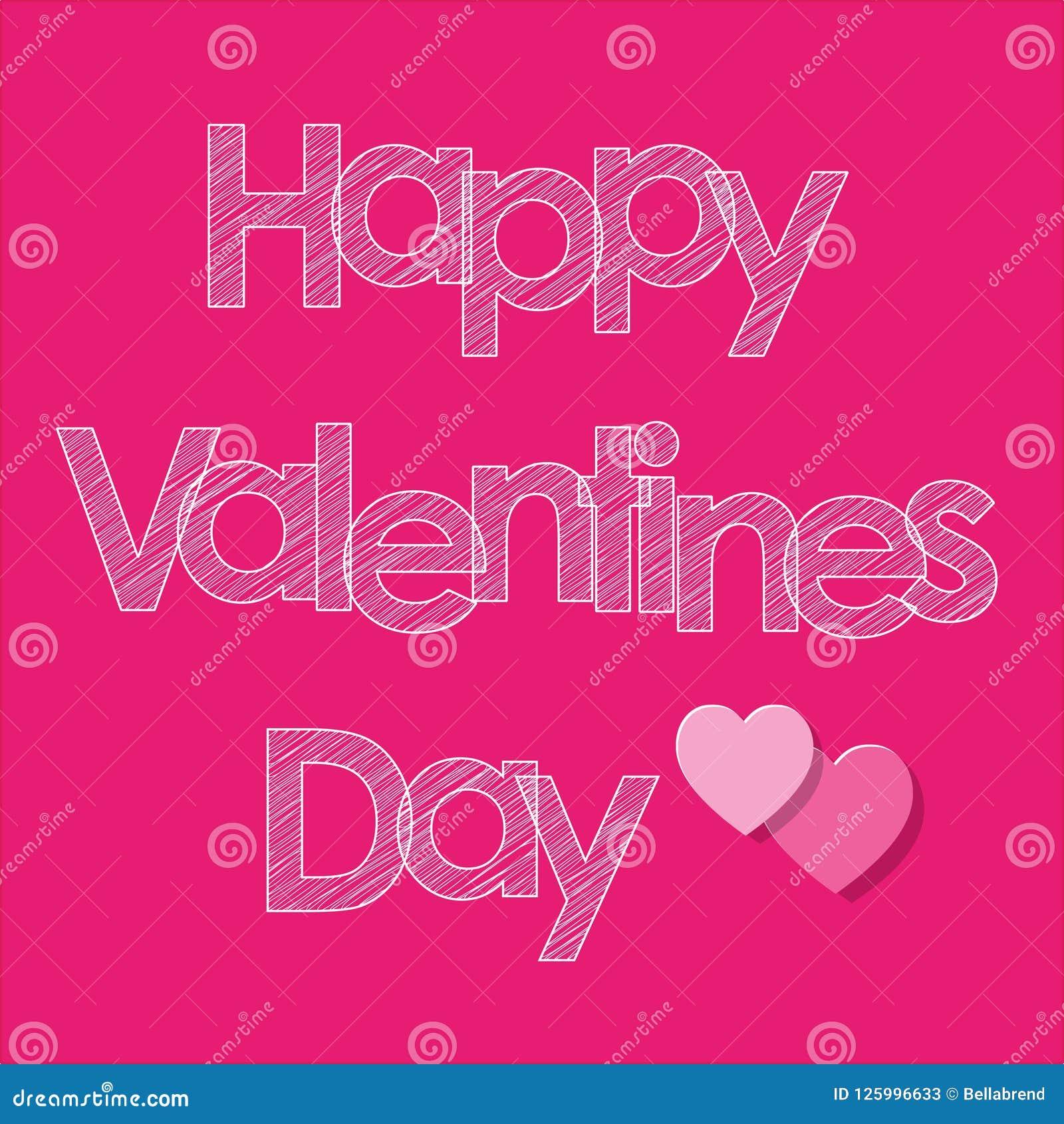 Walentynki ` s dnia skrobaniny pocztówkowi biali listy z sercami na różowym tle